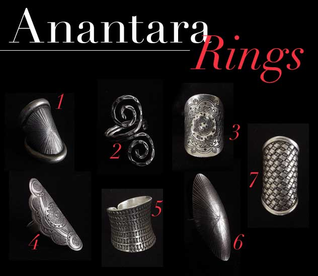 Shop the unique ring and cuff styles today Anantara Black Oval Ring in