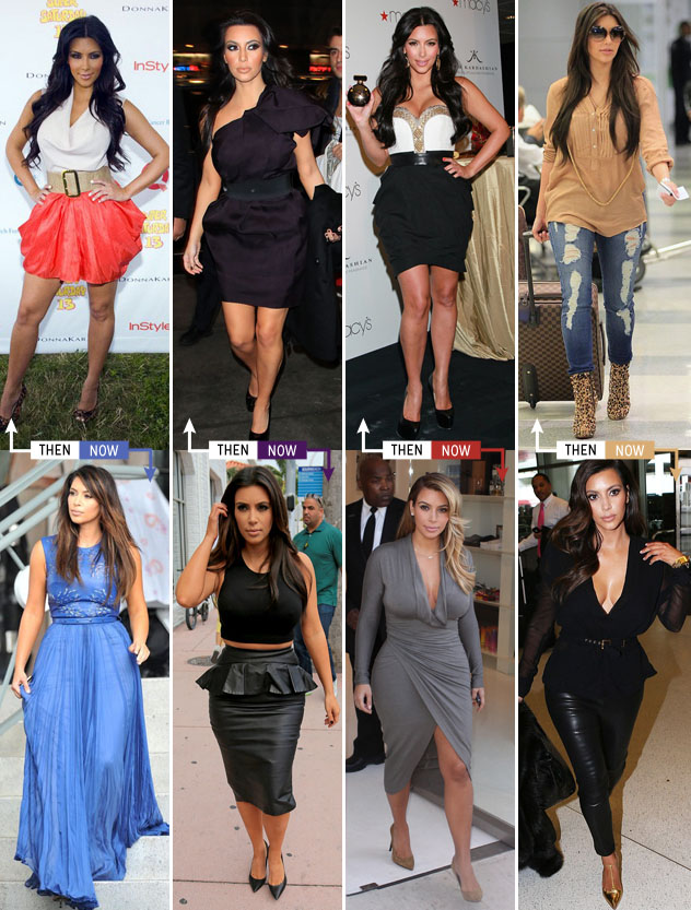 The Trend For Fashion Now: Kim K's Style Evolution: PRE-KIMYE Vs NOW @ The Trend